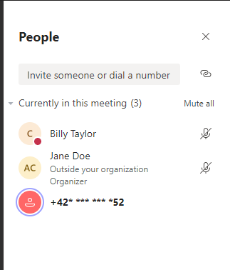 Admin setting for PSTN participant phone number masking in Teams meetings